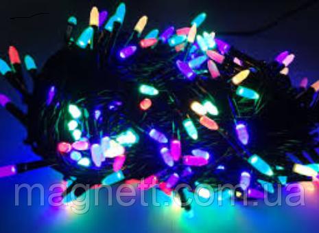 Гирлянда Рис LED 100 лампочек разноцветная