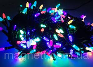 Гірлянда Рис LED 100 лампочок різнокольорова