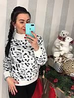 Женский стильный свитер с принтом (3 цвета), фото 1