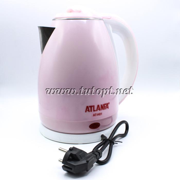 Электрочайник Atlanfa AT-H01 - чайник 2л 1.5кВа электрический с нержавейки дисковый беспроводной с пластиковым