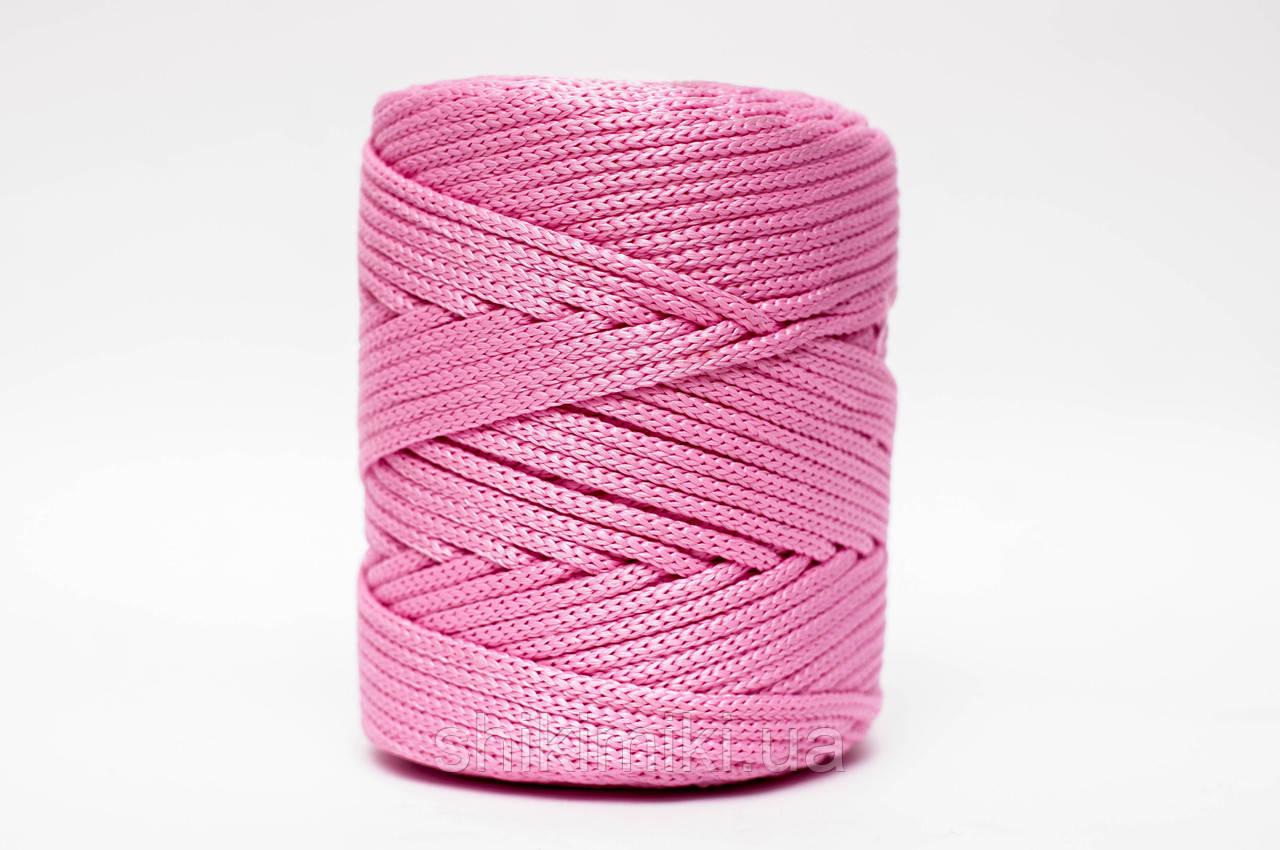 Трикотажный полиэфирный шнур PP Cord 5 mm,цвет розовый