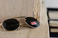Жеснкие солнцезащитные очки Ray Ban черные