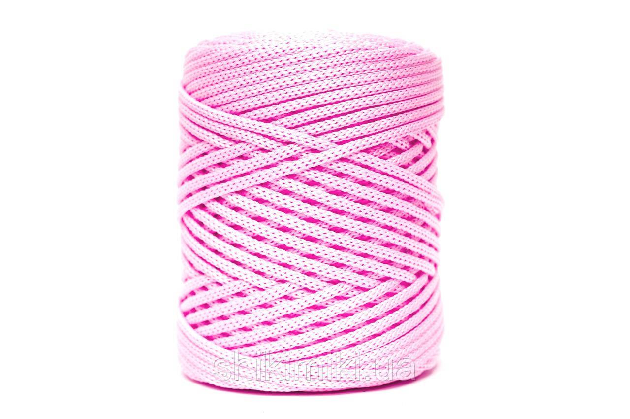Трикотажный полипропиленовый шнур PP Cord 5 mm, цвет Светло розовый