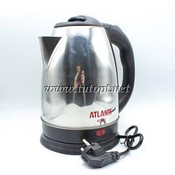 Электрочайник Atlanfa AT-H02 - чайник 2л 1.5кВа электрический с нержавейки дисковый беспроводной с пластиковым
