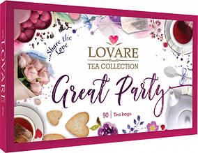 Набор подарочный чайный «LOVARE Great Party» 90 пак.