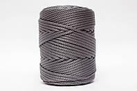 Трикотажный полиэфирный шнур PP Cord 5 mm,цвет серый