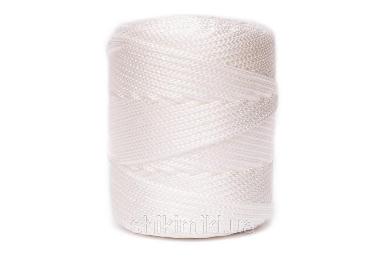 Трикотажный полиэфирный шнур PP Cord 5 mm,цвет Белый