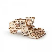Механический 3D пазл - комбайн, Ukr-Gears (UGEARS), механический 3d пазл, 154 детали