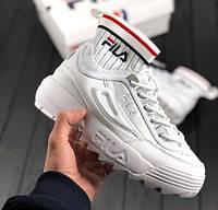 Fila Disruptor II EVO Sock White | кроссовки женские; белые; с носком; осенние/весенние