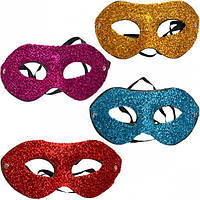 Карнавальная маска пластиковая Блестящая