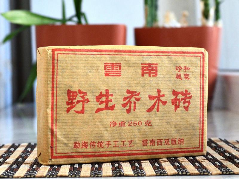 """Чай Пуер Шу """"Стара цегла з диких дерев"""" 2008 рік. 250 грамів"""