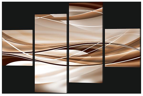 Модульная картина Interno Эко кожа Плавные линии 126х85см (А624М)