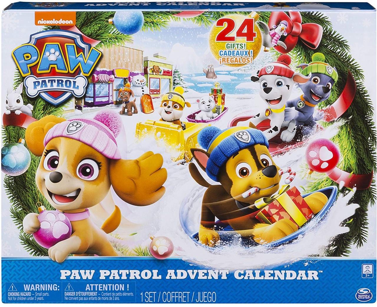 Набор щенячий патруль Адвент календарь 24 сюрприза 2018 год! Paw Patrol Advent Calendar, Spin Master из США