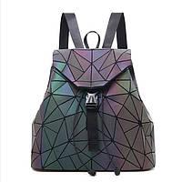 Рюкзак женский Bao Bao Треугольники голографический (флуоресцентный), фото 1