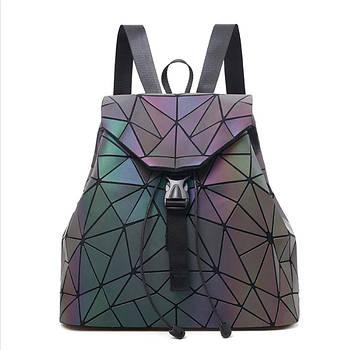 Рюкзак жіночий Bao Bao Трикутники голографічний (флуоресцентний)