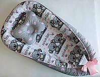 Подушка + позиционер для младенца, кокон, гнездышко, babynest Коалы
