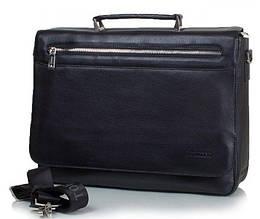Портфель мужской кожаный Tofionno 65080-1 BLACK, черный