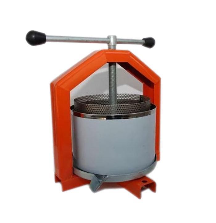 Механический ручной пресс для сока с кожухом /нержавейка/ 6л (Полтава)