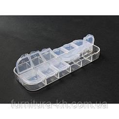 Органайзер для рукоделия 12 отделений 5*13 см прозрачный