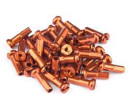 Ніпель FireEye ALU 7075 2/14мм алюміній 38 шт помаранчевий