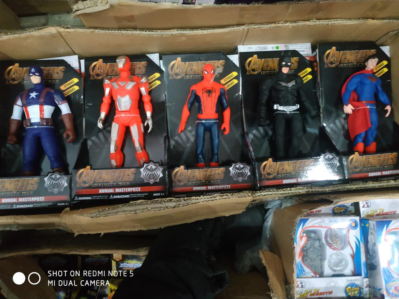 Фигурки Супер-героев (Бетмен, Капитан Америка, Супермен, Железный Человек, Человек Паук, Халк)