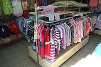 Островной торговый стеллаж. Стеллажи для магазина WIKO (ВИКО). Торговое оборудование для  детской одежды, фото 1