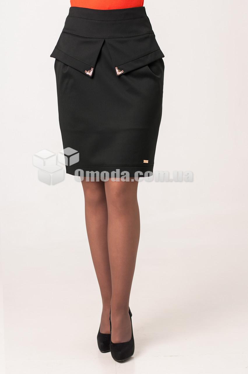Женская молодежная юбка карандаш Джесика черного цвета
