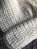 Шапка белая новая 30% wool, фото 4