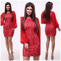 Нарядное платье / дайвинг, шифон, гипюр / Украина 15-633-1, фото 1