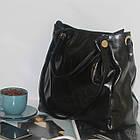 Лаковая классическая вместительная чорная сумка  Лакова класична вмістка чорна сумка , фото 7