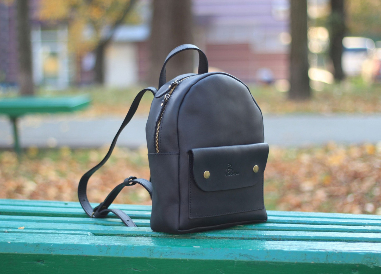 """Кожаный рюкзак """"Leslie"""", цвет чёрный"""