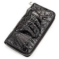 Клатч CROCODILE  из натуральной кожи крокодила ,Черный