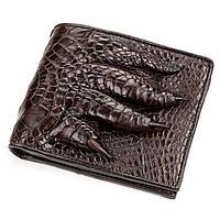 Портмоне CROCODILE из натуральной кожи крокодила ,Коричневое, фото 1