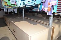 Островной стеллаж для магазина одежды. Стеллажи для детских магазинов.  WIKO (ВИКО)