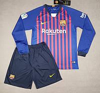 Футбольная форма Барселона 18-19 домашняя с длинным рукавом