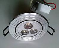 Точечный светильник CTC-LED 1411 3Вт SS сатин серебро