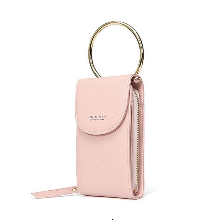 Жіночий гаманець BAELLERRY Forever Young New клатч з ремінцем Пудровий (SUN2742)