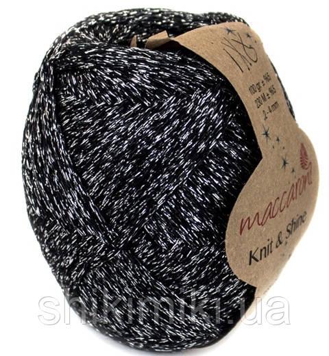 Трикотажный шнур с люрексом Knit & Shine, цвет Черный