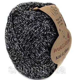 Трикотажный шнур Knit&Shine,цвет черный