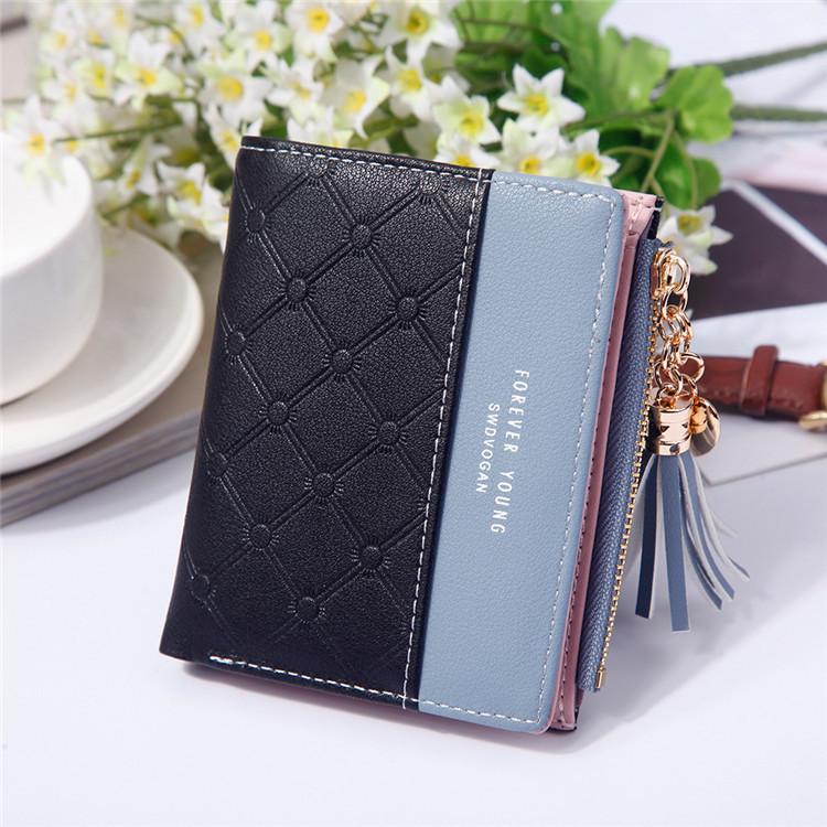 Жіночий гаманець SWDVOGAN Forever Young портмоне на кнопку Чорний (SUN2744)