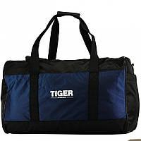 Большая дорожная сумка Tiger Gross-2 Черный+Синий (глянец)