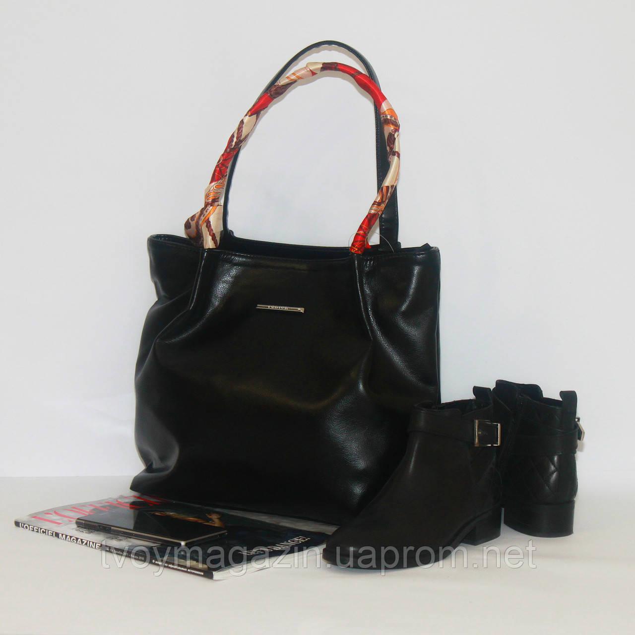 Черная классическая сумка на каждый день Чорна класична сумка на кожен день