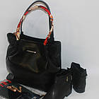 Черная классическая сумка на каждый день Чорна класична сумка на кожен день, фото 3