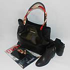 Черная классическая сумка на каждый день Чорна класична сумка на кожен день, фото 4