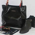 Черная классическая сумка на каждый день Чорна класична сумка на кожен день, фото 5