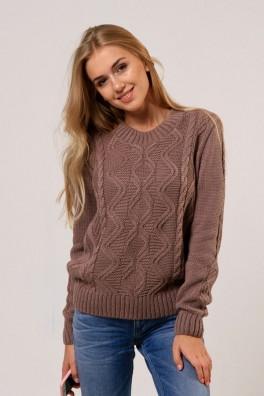 Вязаный свитер женский (капучино) 13131