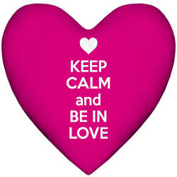 Подушка сердце Keep calm and be in love 37x37, 57x57 (4PS_15L008)