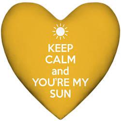 Подушка сердце Keep calm and you`re my sun 37x37, 57x57 (4PS_15L010)