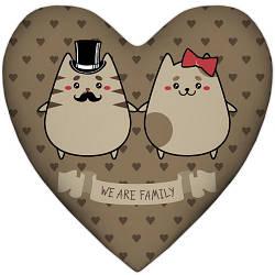 Подушка сердце We are family 37x37, 57x57 (4PS_15L038)