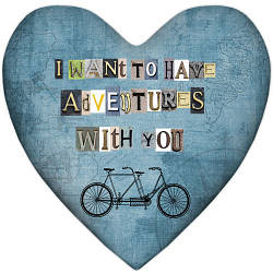 Подушка сердце I want to have adventures with you 37x37, 57x57 (4PS_15L039)
